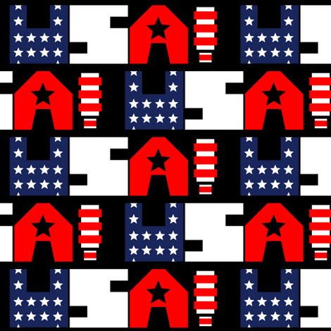A-OKAY USA! fabric by thatrossiart on Spoonflower - custom fabric