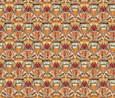 Cup cake mosaic fabric by kirpa on Spoonflower - custom fabric