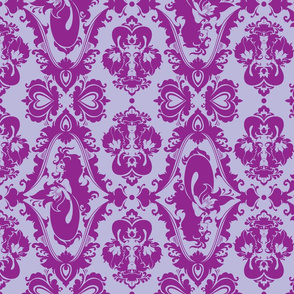 Mermaid Damask (Purple)