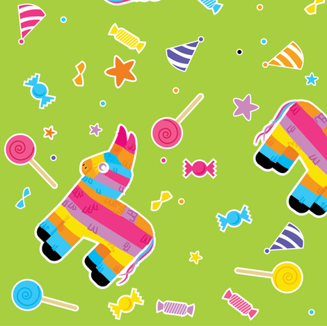 pinata party fabric by annaboo on Spoonflower - custom fabric