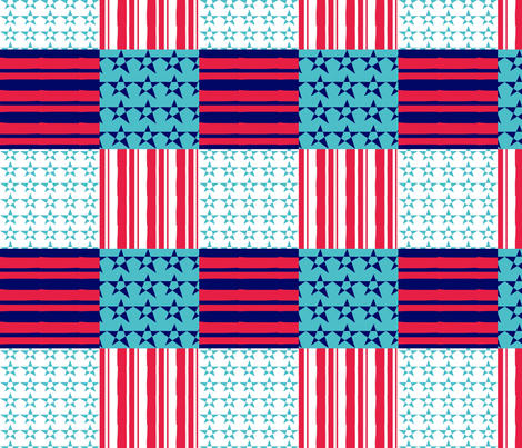 Americana. fabric by lesliebedell on Spoonflower - custom fabric