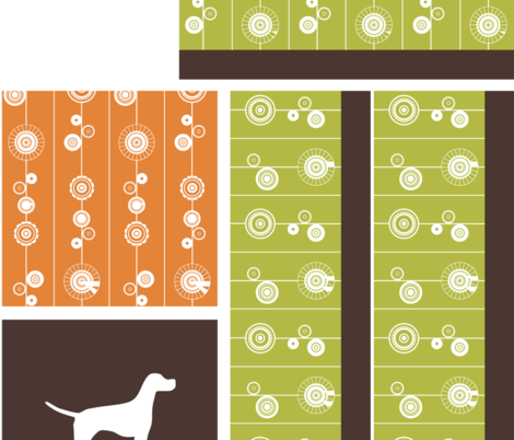 Puppy Playtime 1 fabric by studiocb on Spoonflower - custom fabric