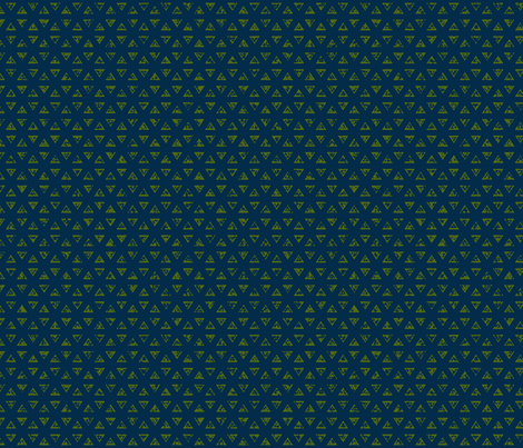 Triangles green fabric by flyingfish on Spoonflower - custom fabric