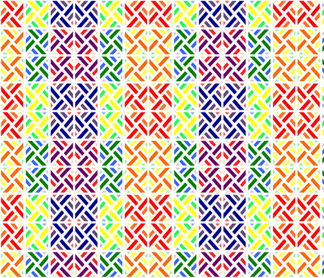 Rainbow Fence fabric by stitching_dvm on Spoonflower - custom fabric