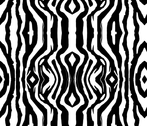 Zebra large fabric by flyingfish on Spoonflower - custom fabric