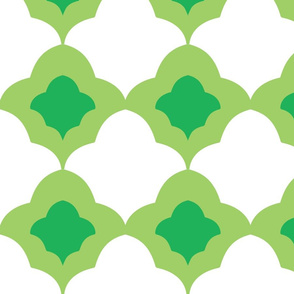 Double Fleur de Lis Green