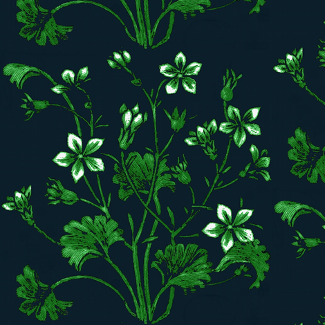 A Ginkgo and jasmine bouquet fabric by paragonstudios on Spoonflower - custom fabric