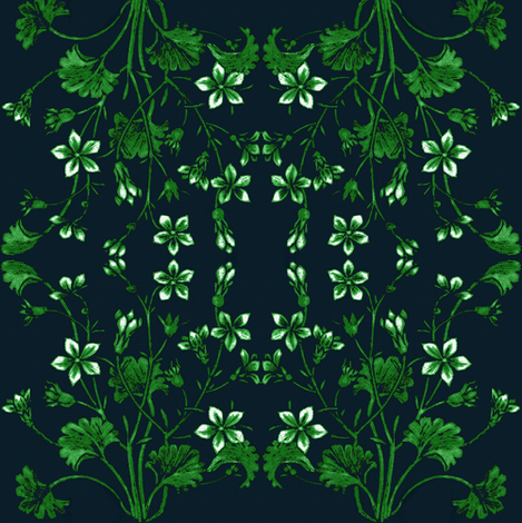 Ginkgo and Jasmine fabric by paragonstudios on Spoonflower - custom fabric