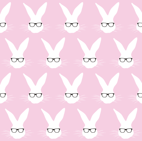 Geeky Bunny Candyfloss small scale fabric by smuk on Spoonflower - custom fabric