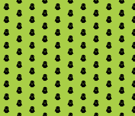 Vader Black Polka on Lime fabric by smuk on Spoonflower - custom fabric
