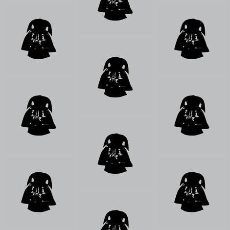 Vader Black Polka on Grey fabric by smuk on Spoonflower - custom fabric