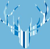 Deerhead Med Blue Stripes