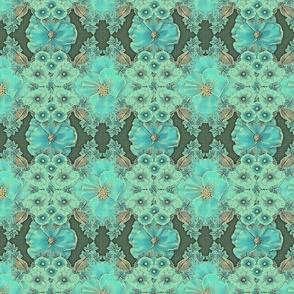 Floraplay: Antique Aqua - Medium