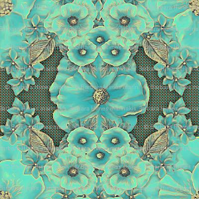 Floraplay: Antique Aqua - small