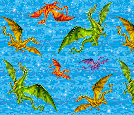 dragon_magic fabric by needlesongs on Spoonflower - custom fabric