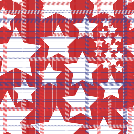Stars and Stripes ATJ fabric by ajterrel on Spoonflower - custom fabric