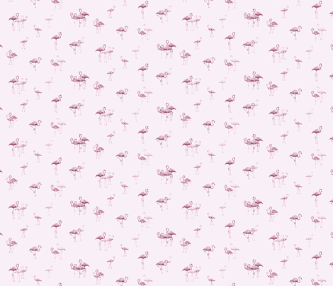 flamingos2 fabric by owls on Spoonflower - custom fabric