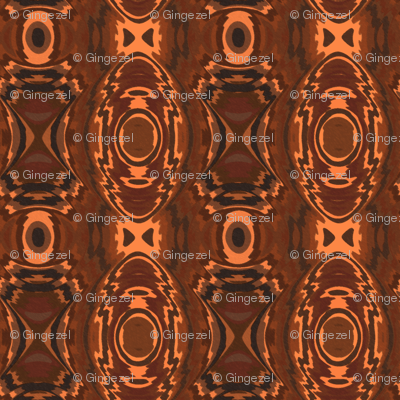 Southwestern Style Brown Geometric 2 © Gingezel™