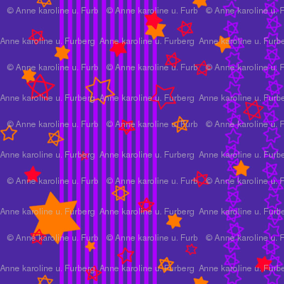 orange stars & purple stripes