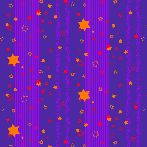 orange stars & purple stripes fabric by annekul on Spoonflower - custom fabric