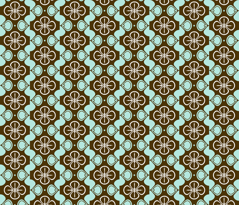 Clovers fabric by dianef on Spoonflower - custom fabric