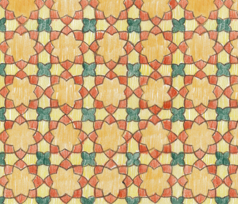 Multi-colored Rounded Octagons (Large) fabric by fussypants on Spoonflower - custom fabric