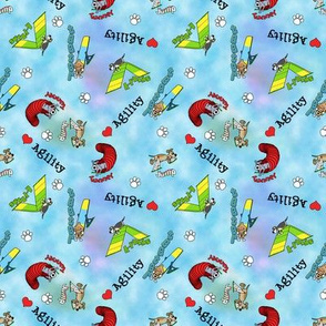 Blue Agility Obstacle Fabric