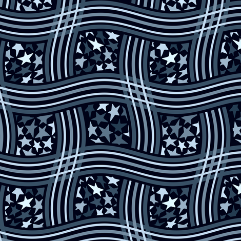 star weave blue fabric by lilichi on Spoonflower - custom fabric