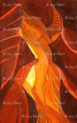 Slot Canyon Watercolor