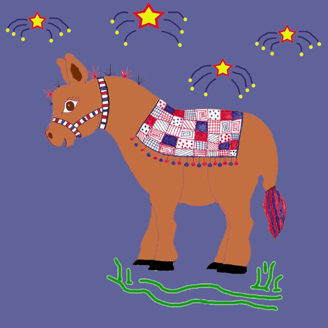 Quilted Burro fabric by scoutmom131 on Spoonflower - custom fabric