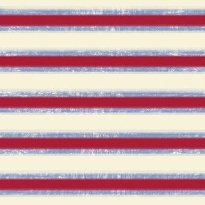 Stars And Stripes Red, Faded Blue and Off-white Stripes, ATD 502
