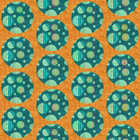 Floraplay_coordinate_BigStripedDot fabric by tallulahdahling on Spoonflower - custom fabric