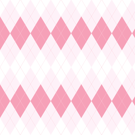 Argyle. Pink. fabric by yaskii on Spoonflower - custom fabric