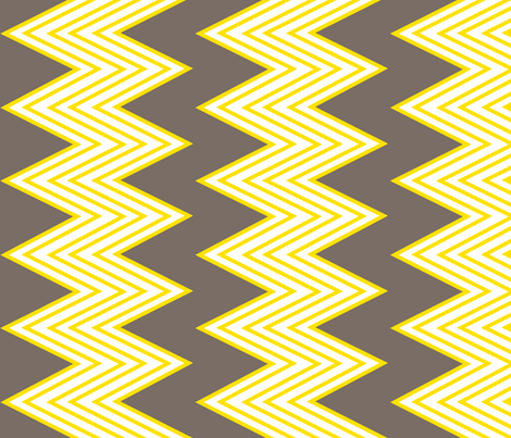 Zig-zag yellow fabric by fable_design on Spoonflower - custom fabric