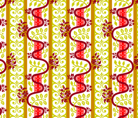 Rococo: Abstract floral stripes, c. 1706-1716 fabric by bonnie_phantasm on Spoonflower - custom fabric