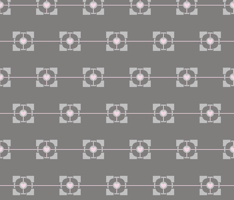 Companion Cube fabric by kaylaconspiracy on Spoonflower - custom fabric