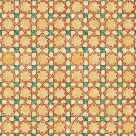 Multi-colored Rounded Octagons (Small) fabric by fussypants on Spoonflower - custom fabric