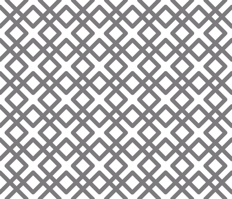 Modern Weave in Steel Gray fabric by fridabarlow on Spoonflower - custom fabric