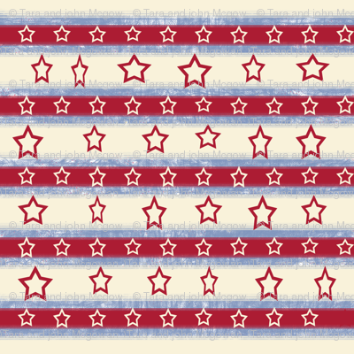 Stars And Stripes Red, Off-white stars, ATD 504