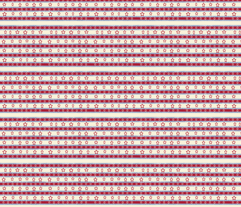 Stars And Stripes Red, Off-white stars, ATD 504  fabric by arttreedesigns on Spoonflower - custom fabric