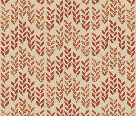 Minoan grasses on bone linen weave fabric by su_g on Spoonflower - custom fabric