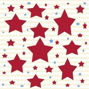 Stars And Stripes Red And Blue Stars, ATD 507