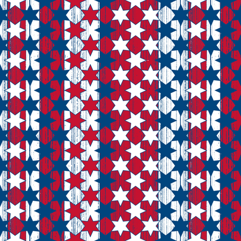 red white blue stars n stripes fabric by ruthevelyn on Spoonflower - custom fabric