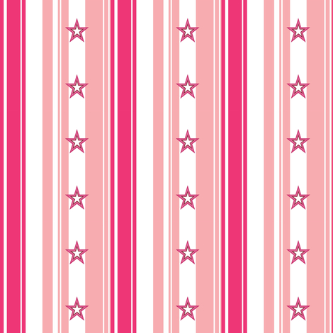 Candy Star Raspberry fabric by smuk on Spoonflower - custom fabric