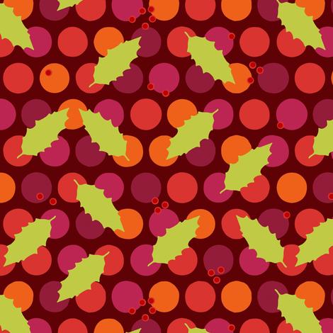 holly polka fabric by scrummy on Spoonflower - custom fabric