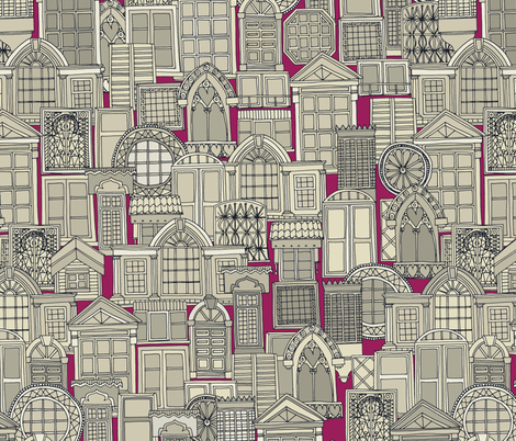 windows pink fabric by scrummy on Spoonflower - custom fabric