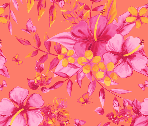 Sweet Hawaii fabric by neatdesigns on Spoonflower - custom fabric