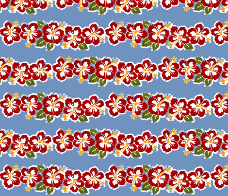 Hibiscus Leis fabric by flyingfish on Spoonflower - custom fabric