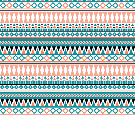 Tribal Triangle fabric by demigoutte on Spoonflower - custom fabric