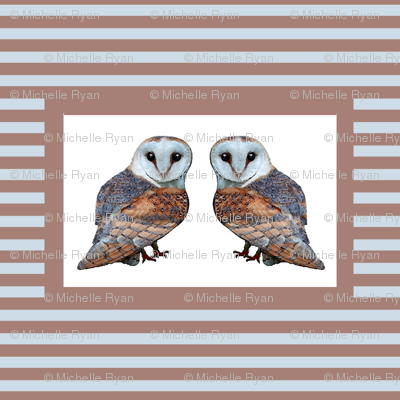 The Owl Collection Barn Owl Tile